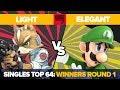Light vs Elegant - Ultimate Singles: Top 64 Winners Round 1 - Genesis 7 | Fox vs Luigi