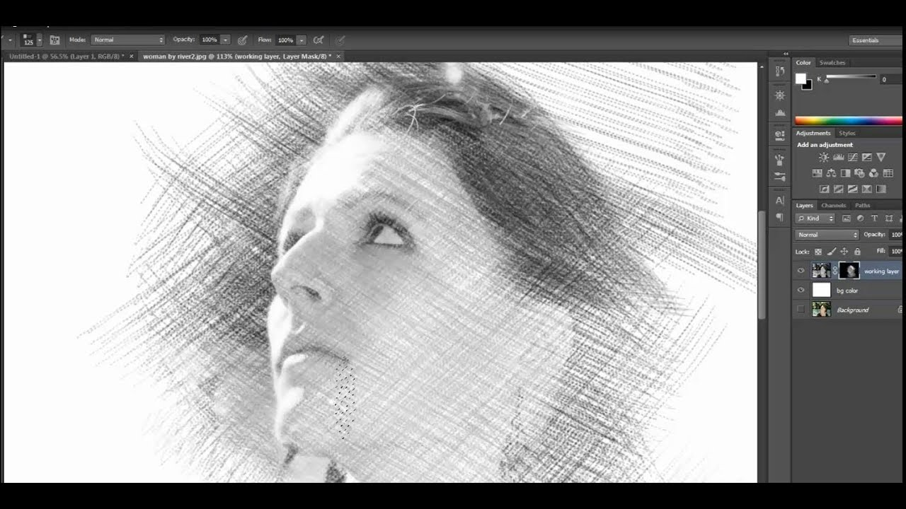 Photoshop Photo Line Art Effect : Pencil drawing sketch effect photoshop tutorial youtube