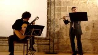 Paolo Battista (chit), Gianserafino Pinto (fl) Carlo Domeniconi - Sonatina Messicana 1Movimento