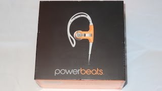 Beats by Dr. Dre Powerbeats Clip-On Earbuds (Neon Orange) Unboxing