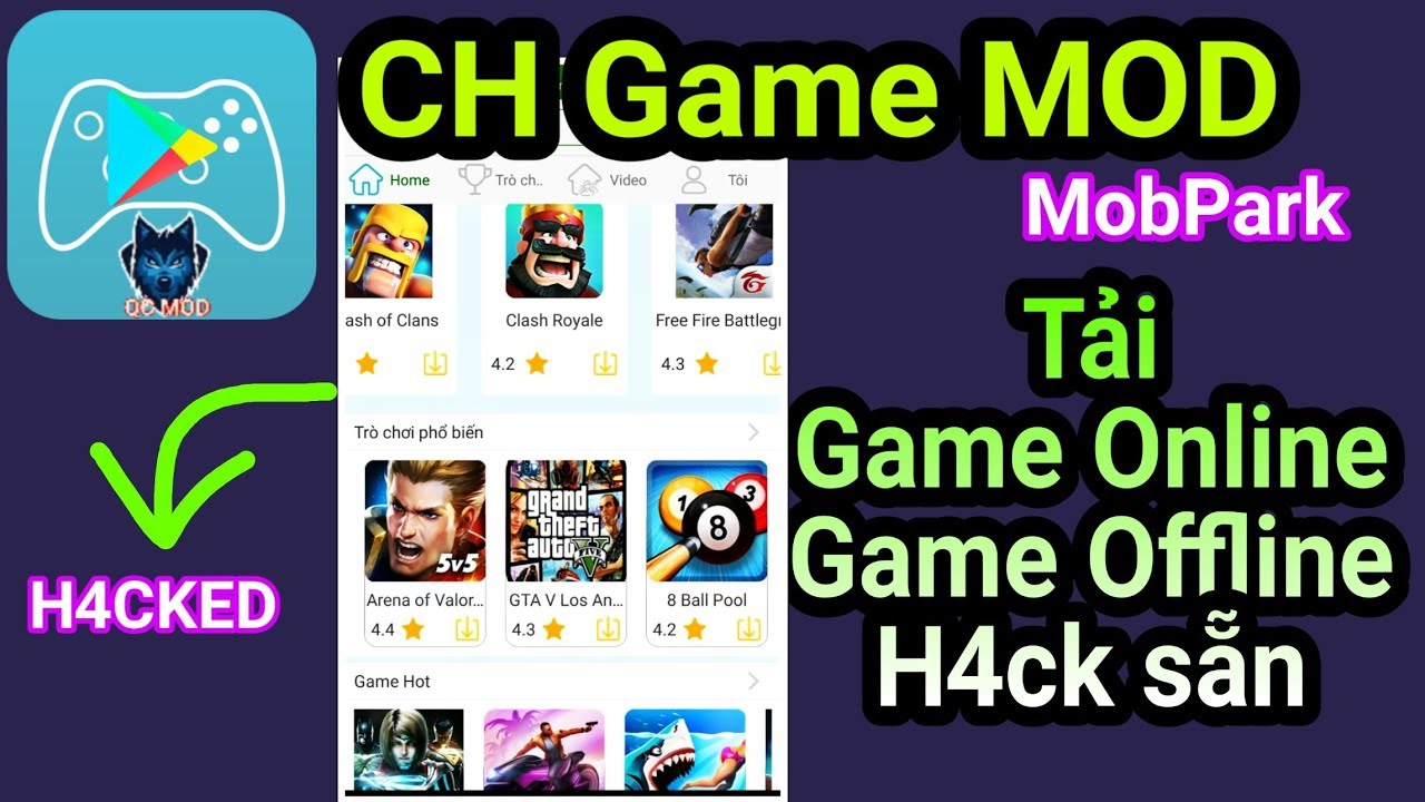 Ứng dụng CH Game MOD| Tải nhiều Game Online & Offline MOD sẵn cho Android| APP MOD FREE