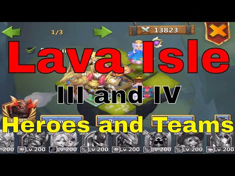 Castle Clash Lava Isle 3 & 4 Gameplay, Hero Setup, Team Building, And Strategy