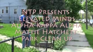 NTP Elevated Minds Alpha Kappa Alpha  Park clean up