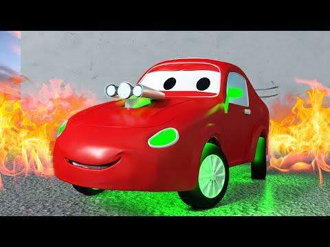 Závodní auto Jerry - Odtahové auto Tom ve Městě Aut 🚗 Animáky o autech