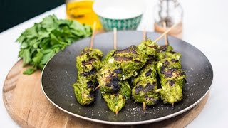 Green chicken kebabs | Best BBQ Recipes