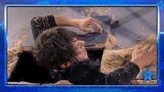 Alfred Cobami ESCAPA de 17 toneladas de arena | Semifinal 3 | Got Talent España 2019