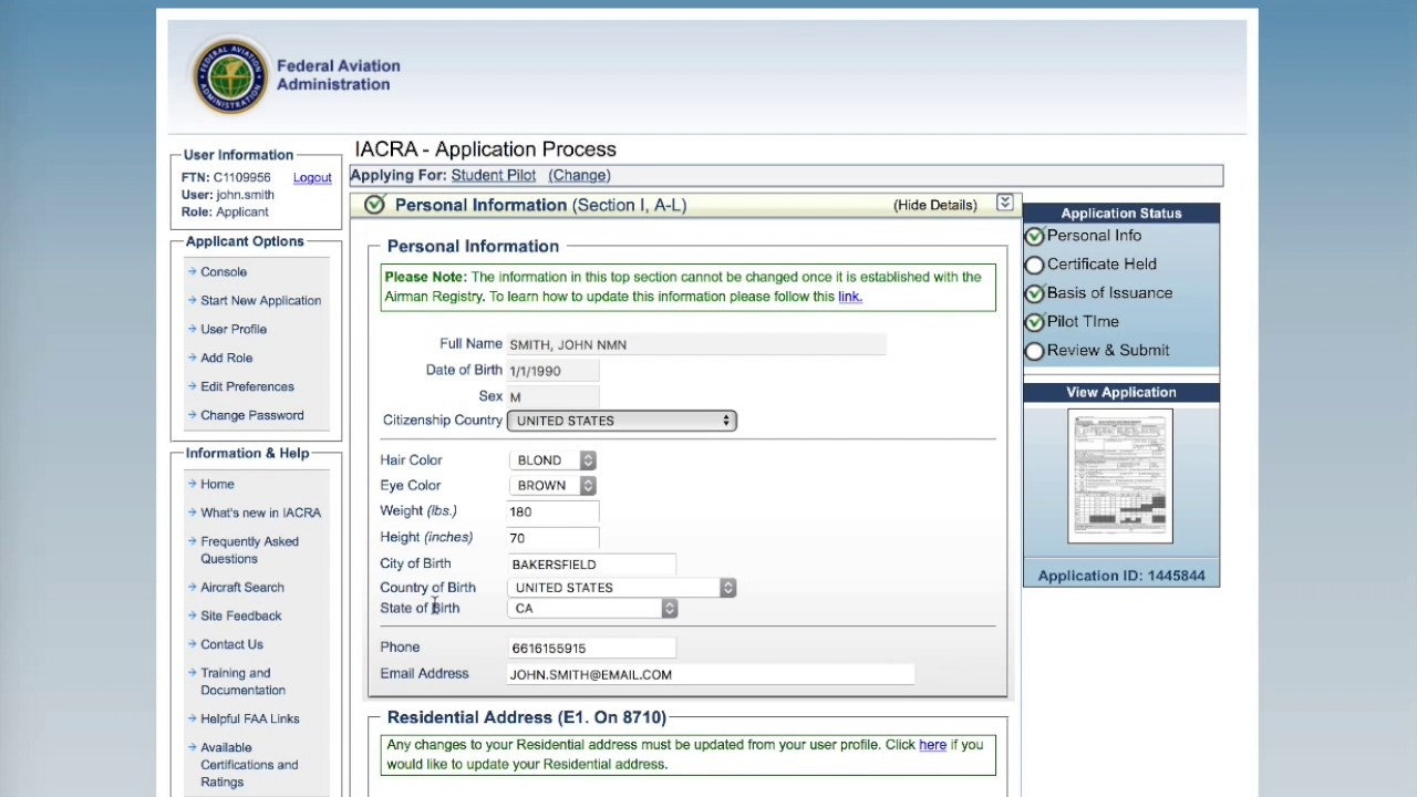IACRA STUDENT PILOT CERTIFICATE HOW-TO GUIDE - YouTube