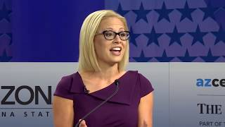 Martha McSally and Kyrsten Sinema debate for U.S. Senate seat in Arizona (full debate) U.S. Senate rivals Martha McSally and Kyrsten Sinema appeared face to face on Oct. 15 in the only debate in their contentious race to replace retiring Sen., From YouTubeVideos