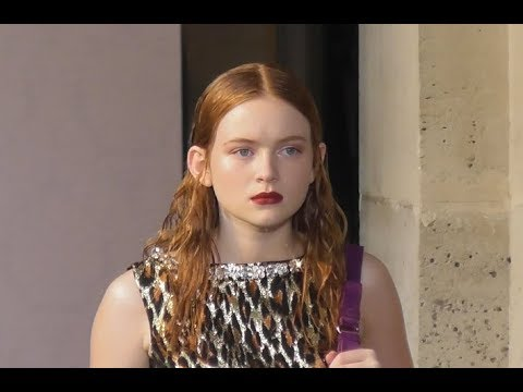 Sadie SINK / Stranger Things / model @ Paris Fashion Week 30 june 2018 show Miu Miu / juin