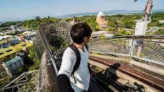 ABANDONED JAPAN IN 4K: NARA DREAMLAND THEME PARK pt. 2 ( CLIMBED ROLLER COASTER )
