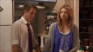 Maddy and Oscar kiss on the check scene ep 6141