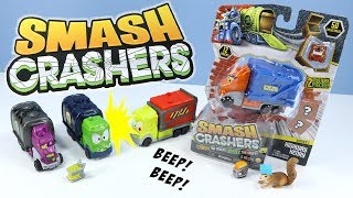 Smash Crashers Series 1 Crash the Truck Unbox the Stuff! Review Just Play