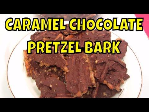 Caramel Chocolate Pretzel Bark - YouTube