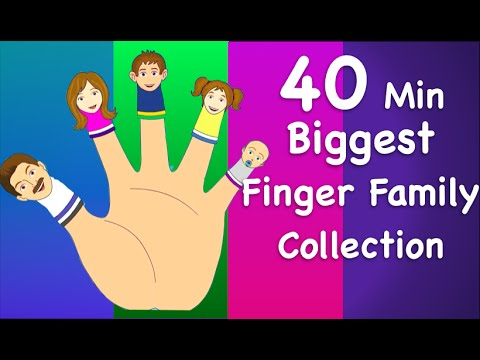 Finger Family Collection   Non-Stop 40 Minutes   Biggest Collection of Finger Family For Children