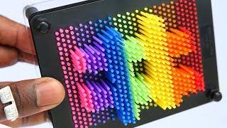 DIY Pin Art Hack 3d Hashtag Play Doh Clay #4