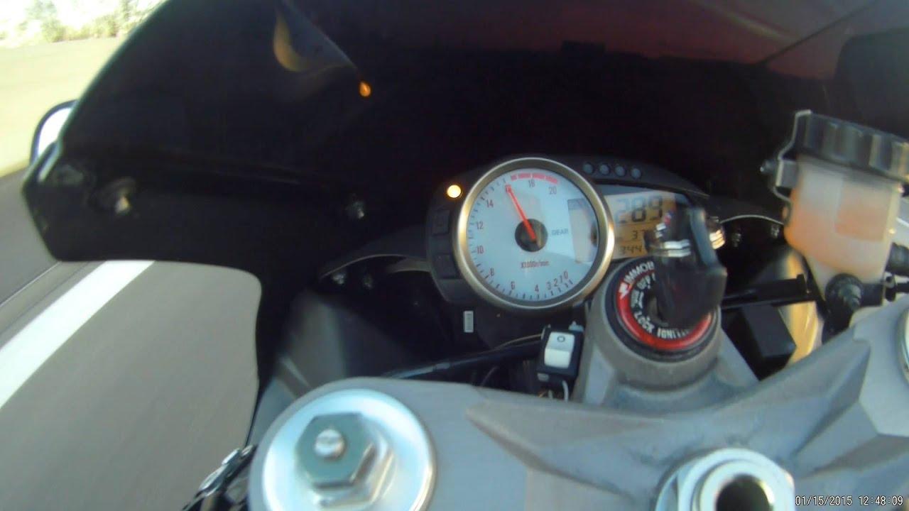kawasaki ninja zx6r max speed / top speed (289km/h) stock - youtube