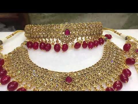 Rajputi jewellery/Rajputi Moti Haar design/Rajputi Mohan Kanti/Haar design look like real goldonline from YouTube · Duration:  2 minutes 13 seconds
