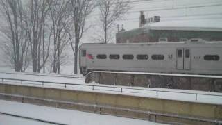 Amtrak & NJ Transit on the snow