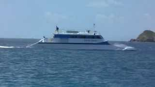 Wave Piercing Catamaran going around Culebra.