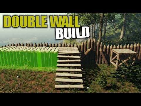 DOUBLE WALL BUILD   The Forest   Let's Play Gameplay   S14E28