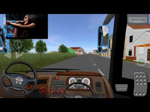 Bus simulator Indonesia - Blue Star jetbus dengan hiburan dangdut didalamnya