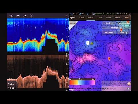 Смотрим сквозь воду Структурная карта Прикормочным корабликом  (Видео 4К)
