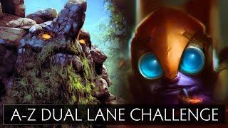 Dota 2 A-Z Dual Lane Challenge - Tinker and Tiny
