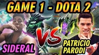 [GAME 1] EL VERSUS EN DOTA ENTRE SIDERAL(STAFF BARRIOFINO) Y PATRICIO PARODI (PATO ARMY) - DOTA 2