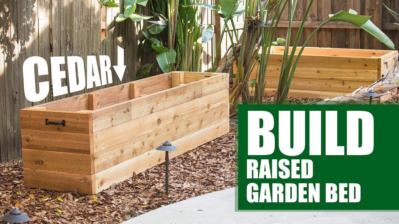 Build Your Own Cedar Raised Garden Bed | DIY - YouTube