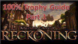 Kingdoms of Amalur: Reckoning PS3 Hard Mode DLC Teeth Of Naros 100% Trophy Guide Part 1