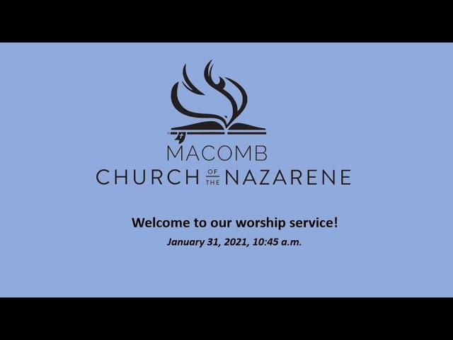 Sunday Morning Worship - January 31, 2021