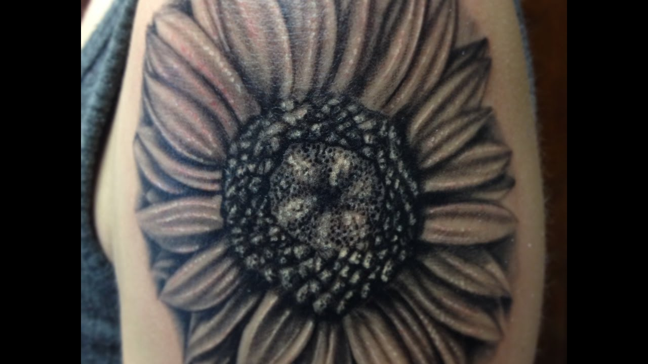 black and white sunflower tattoos - YouTube