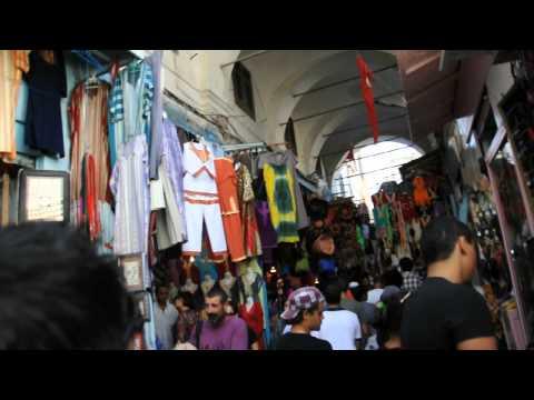 A walk through Medina Bazaar Tunis Tunisia 2012