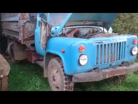 Cold starting a Russian 1968 GAZ diesel truck