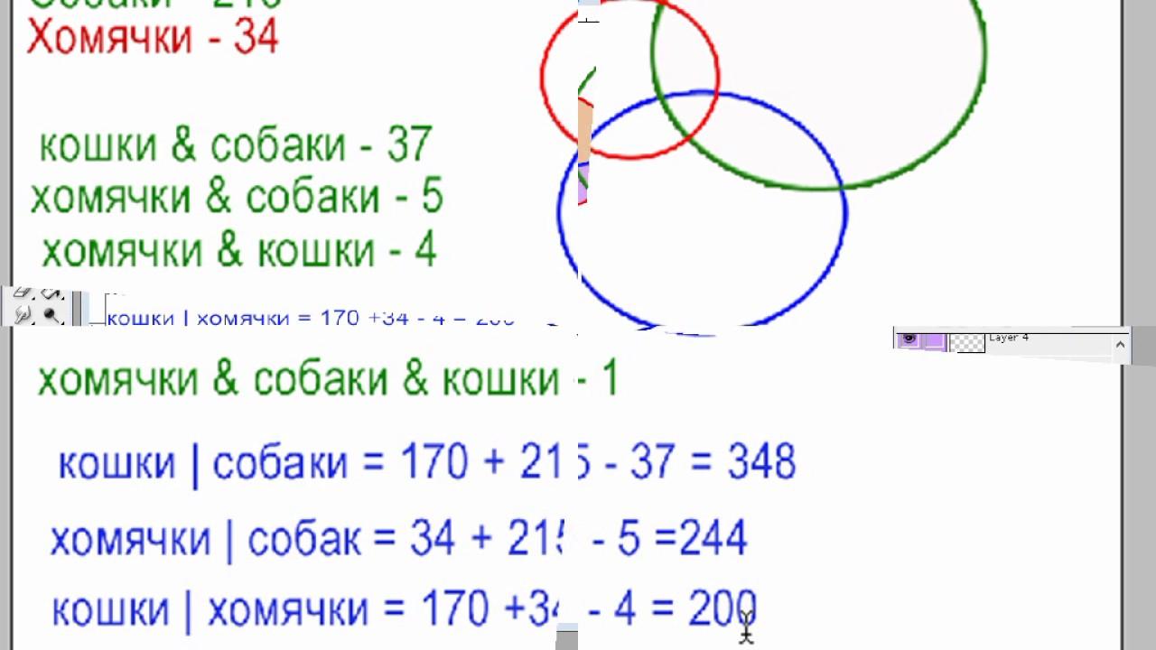 Круги эйлера примеры решения задач 5 класс решить задачу рациональным способом