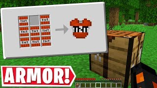 MINECRAFT BUT ALL BLOCKS CAN TURN INTO ARMOR..