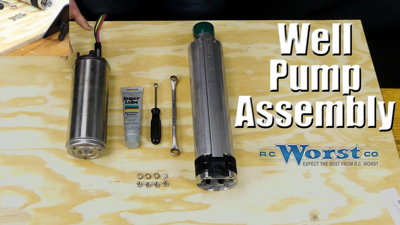 hight resolution of how to assemble a submersible well pump and motor