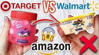 TARGET SLIME VS WALMART SLIME VS AMAZON SLIME! Which One is Worth it?!?