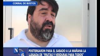 POSTERGARON LA LLEGADA DE FRUTAS PARA TODOS