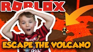 ESCAPE THE VOLCANO OBBY in ROBLOX | CAN WE SURVIVE A HOT VOLCANO