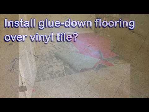 Can you glue down an engineered floor to VCT tile? Yes, but...