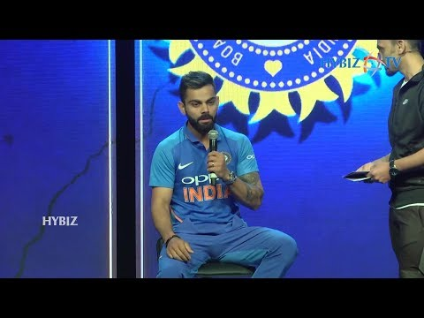 Virat Kohli | Team India New Jersey for ICC World Cup 2019 | Hyderabad