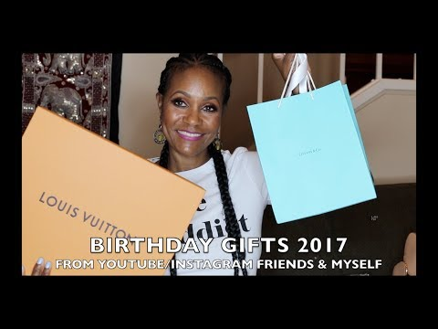 BIRTHDAY GIFTS 2017 FROM YOUTUBE/INSTAGRAM FRIENDS & MYSELF