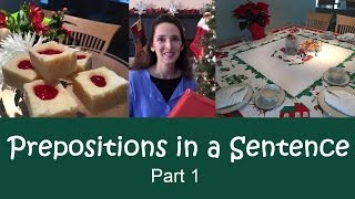 Using English Prepositions - Lesson 9: Function and Word Order - Part 1