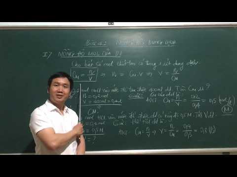 Hoá Học 8, Bài 42: Phần 2/ Nồng độ MOL Của Dung Dịch