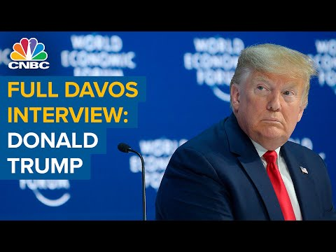 Watch the full CNBC interview with US President Donald Trump from Davos