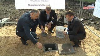 Alapkőletétel a Greiner Bio-One Hungary Kft.-nél