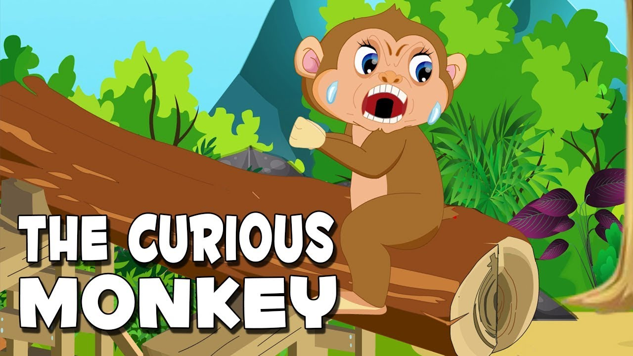 English Short Stories For Kids | The Curious Monkey | Animated Moral  Stories For Children