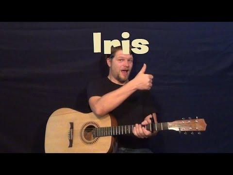 Iris Goo Goo Dolls Guitar Lesson Strum Chords How To Play Tutorial