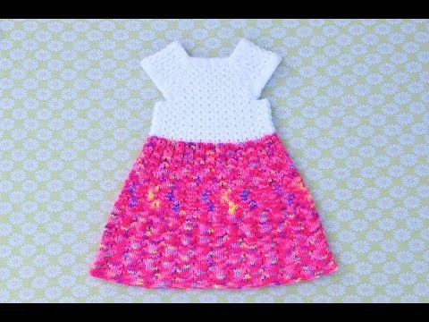 How To Knit Mock Cables Baby Dress Part 1 Youtube